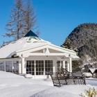 Außenansicht Tagungsraum Pavillon im Winter